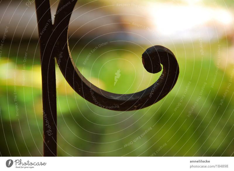reine Zier schön grün Pflanze Sommer Garten Park Metall Kreis Dekoration & Verzierung Stahl Balkon Zaun Geländer Terrasse Ornament gekrümmt