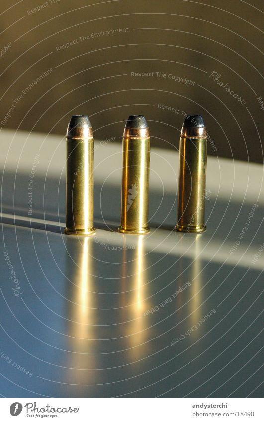 3 Rounds Metall 3 Dinge Kugel Waffe Pistole Schuss Munition Bildart & Bildgenre