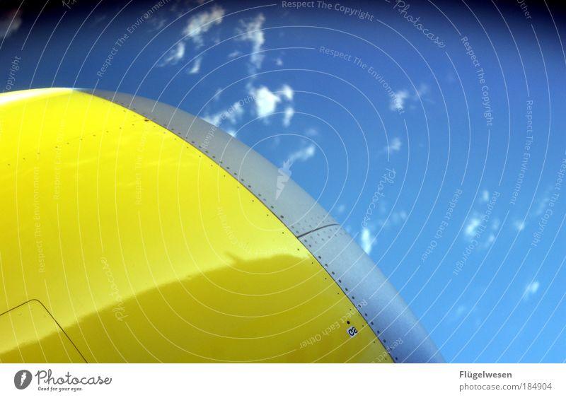 Deutsche Luftpost! Himmel Ferien & Urlaub & Reisen Wolken fliegen Erde springen Arbeit & Erwerbstätigkeit Freizeit & Hobby Tourismus Luftverkehr Kraft Erfolg