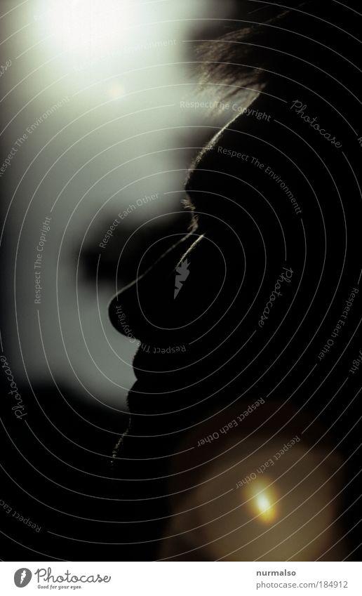 Sonnenstrahlen, geniessen. Mensch Mann Natur Jugendliche Erwachsene Ferne Erholung Leben Gefühle Kopf Haare & Frisuren Glück Denken lustig träumen Zufriedenheit
