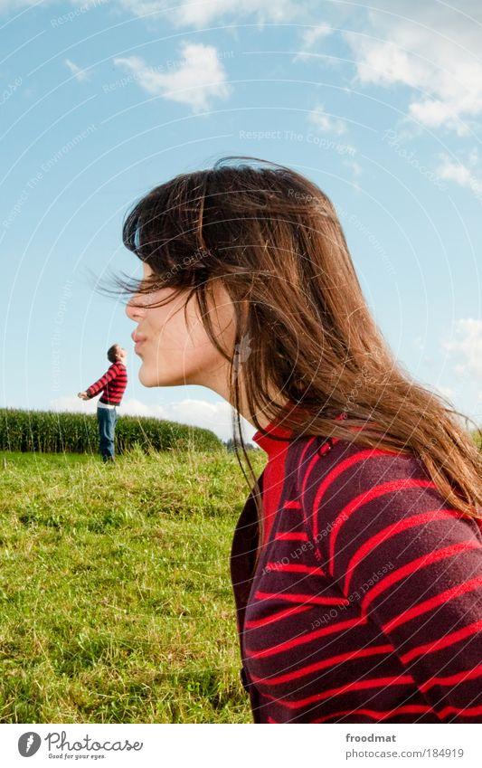 unbefleckte empfängnis Farbfoto mehrfarbig Außenaufnahme Experiment Textfreiraum oben Tag Licht Sonnenlicht Oberkörper Ganzkörperaufnahme Profil Blick nach vorn