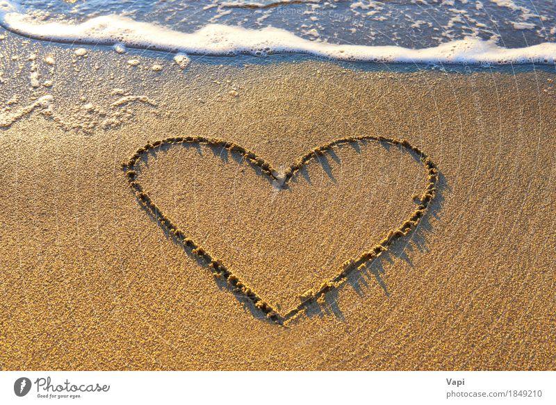 Natur Ferien & Urlaub & Reisen blau Sommer Wasser weiß Sonne Meer Landschaft Erholung Freude Strand Wärme gelb Liebe natürlich