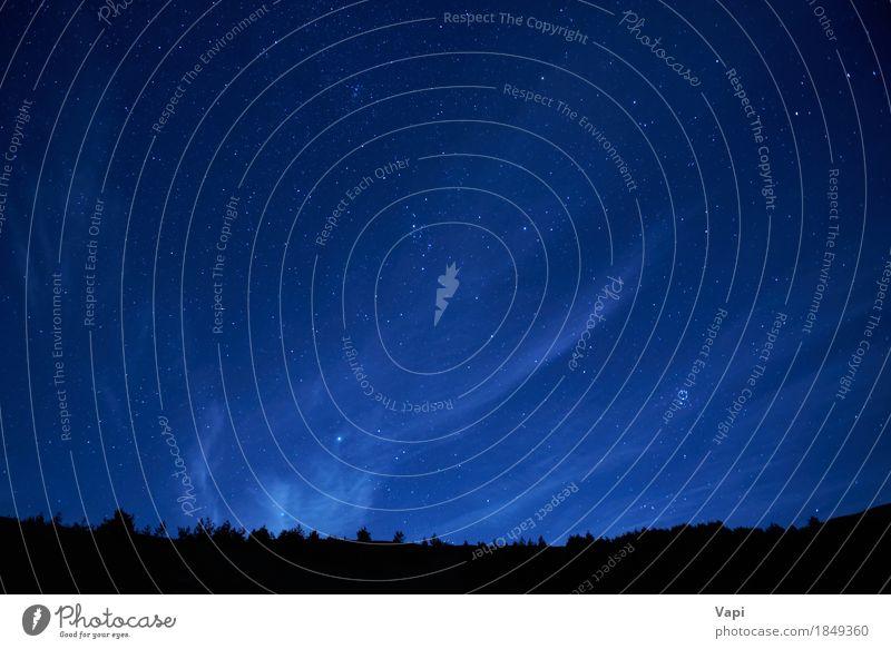 Blauer dunkler nächtlicher Himmel mit vielen Sternen Ferien & Urlaub & Reisen Abenteuer Berge u. Gebirge Tapete Natur Landschaft Erde Wolkenloser Himmel