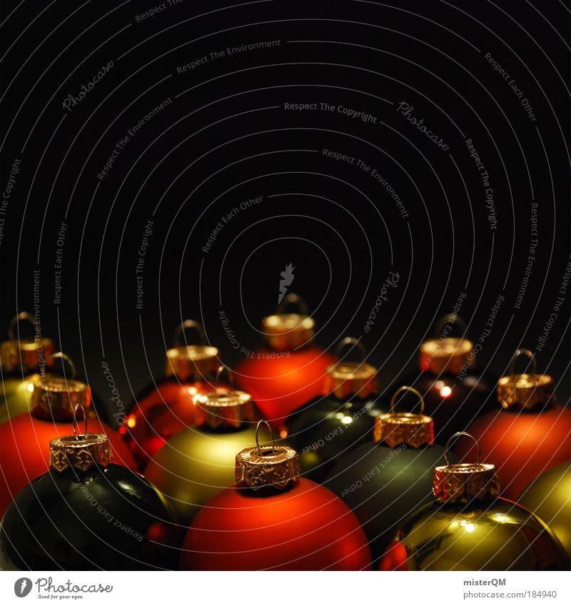ready to go. Weihnachten & Advent Winter Kunst Feste & Feiern Design glänzend Dekoration & Verzierung modern ästhetisch Kreativität Gold Kultur Zeichen viele