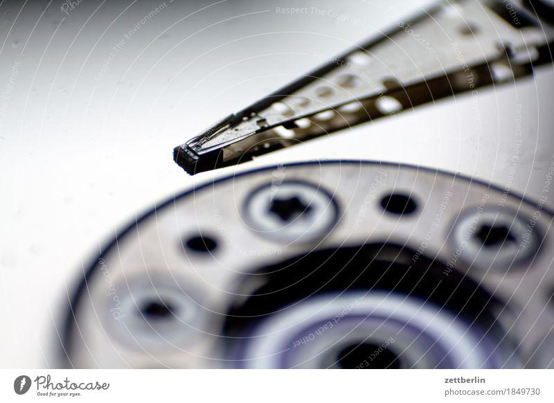 Lesen und schreiben Textfreiraum Technik & Technologie Computer Technikfotografie Informationstechnologie Daten Datenträger High-Tech Mechanik Datenschutz