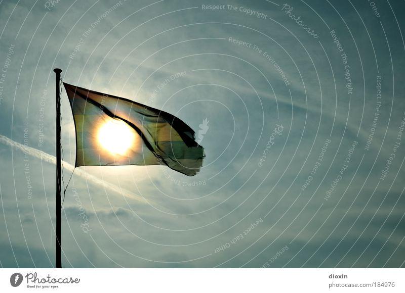 Terschelling Sun Flag Ferien & Urlaub & Reisen Tourismus Ausflug Sommer Sommerurlaub Sonne Strand Meer Insel Luft Himmel Wolken Klima Wetter Schönes Wetter Wind