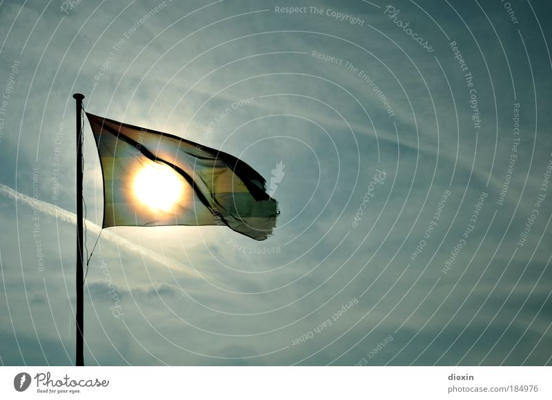 Terschelling Sun Flag Himmel Sonne Meer Sommer Strand Ferien & Urlaub & Reisen Wolken Luft Küste Wind Wetter Ausflug Insel Tourismus Fahne Freizeit & Hobby