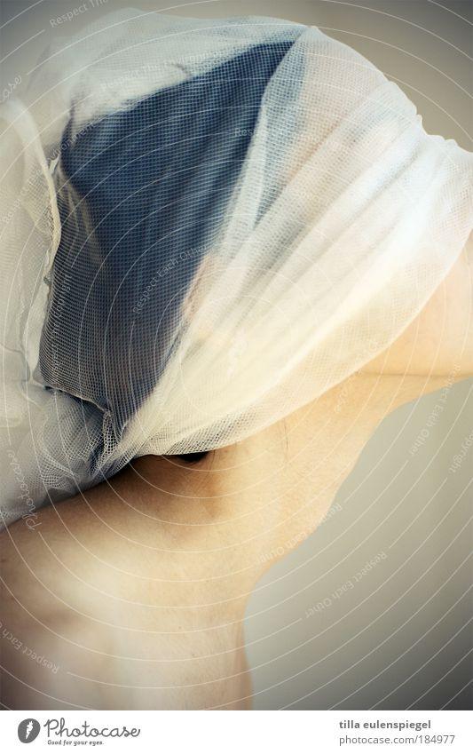 schleierhaft Frau Mensch Jugendliche Erwachsene Einsamkeit feminin Kunst Kopf außergewöhnlich Wandel & Veränderung Trauer retro Dinge Neugier 18-30 Jahre Kultur