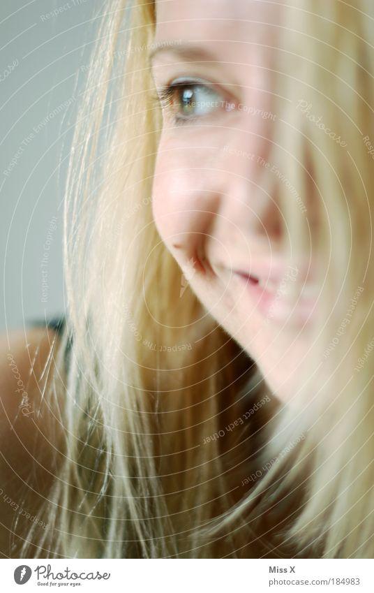 Sie kann lachen ! Mensch Jugendliche schön Gesicht Auge feminin Gefühle Frau Glück Haare & Frisuren Stimmung lustig Erwachsene Fröhlichkeit