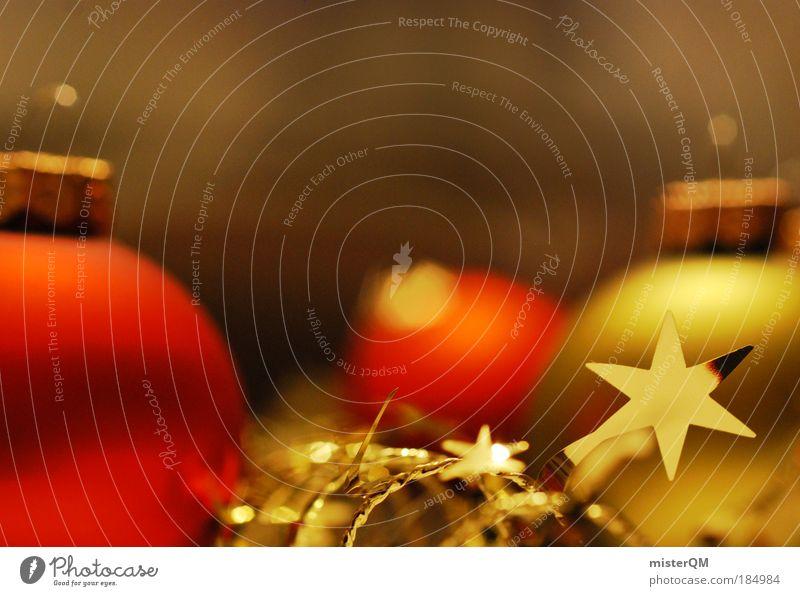 Geist der Weihnacht. Kunst Kultur ästhetisch Weihnachten & Advent Weihnachtsstern Gold rot Dekoration & Verzierung Schmuck Baumschmuck Christbaumkugel