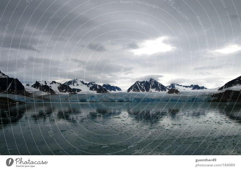 Spitzbergen Gletscher Natur Wasser kalt Schnee Eis Frost Fjord