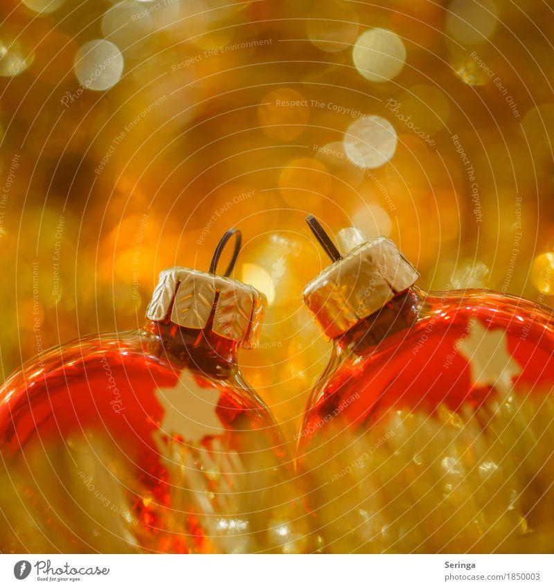 Weihnachtsvorfreude Glas Kugel Religion & Glaube Wärme Weihnachtskrippe Weihnachten & Advent Christbaumkugel Christliches Kreuz Weihnachtsbaum Gold rot Liebe