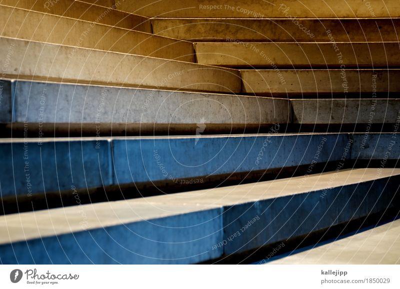 treppchen Stein Erfolg Treppe Beton aufwärts abwärts Balken Diagramm Farbfoto Innenaufnahme Kunstlicht Licht Schatten Kontrast