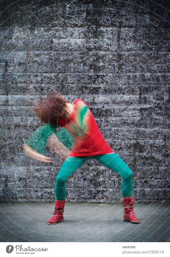 Afroh Lifestyle Meditation Musik Tanzen Mensch feminin Frau Erwachsene 1 Tänzer Mode Bekleidung Stiefel rothaarig Afro-Look Bewegung frech einzigartig retro