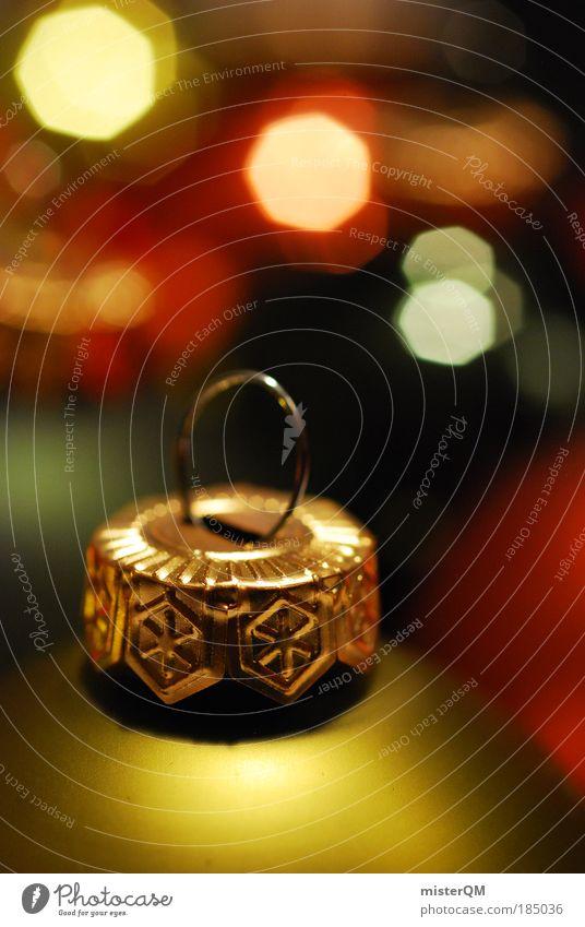 Wenn alles glänzt. Weihnachten & Advent Winter Kunst Feste & Feiern Design orange glänzend Dekoration & Verzierung modern ästhetisch Kreativität Kultur viele