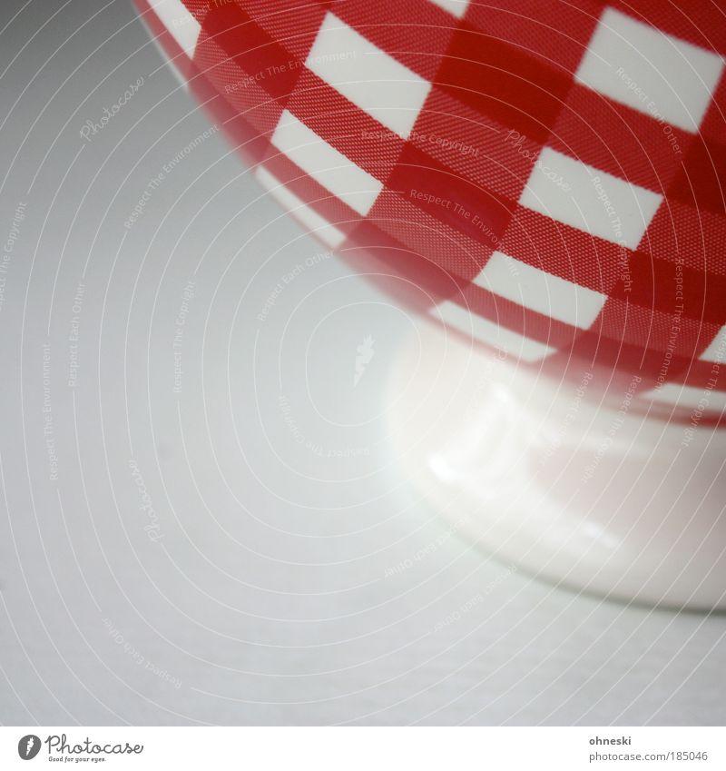 Schale weiß rot Lebensmittel Ernährung Kaffee genießen Getreide Geschirr kariert Schalen & Schüsseln Dessert Keramik Kakao Porzellan Milcherzeugnisse Joghurt