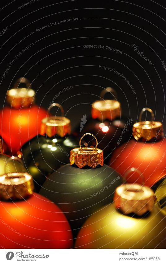 ready for take-off. Weihnachten & Advent Winter Kunst Feste & Feiern Design glänzend Dekoration & Verzierung ästhetisch Kreativität Gold Kultur rund