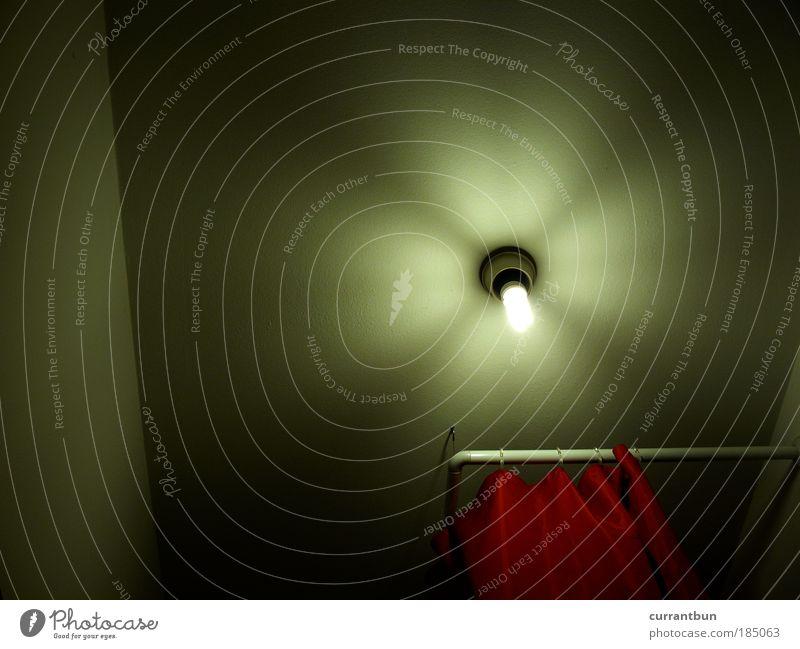 badeharmonie Wasser rot träumen Lampe Kleeblatt Energiesparlampe Duschvorhang
