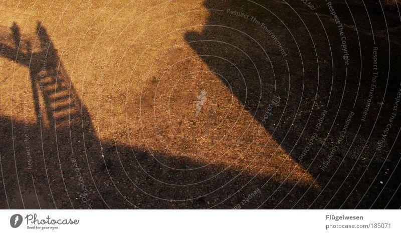 Himmelsschattenleiter Mensch Ferne Freiheit Umwelt Kunst Kraft Freizeit & Hobby warten fliegen Erfolg Treppe Klima Lifestyle Luftverkehr Sicherheit beobachten