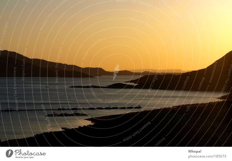 DIAMOND VALLEY LAKE Natur Landschaft Wasser Himmel Horizont Sonnenaufgang Sonnenuntergang Sonnenlicht Sommer Schönes Wetter Wärme Berge u. Gebirge Seeufer Bucht