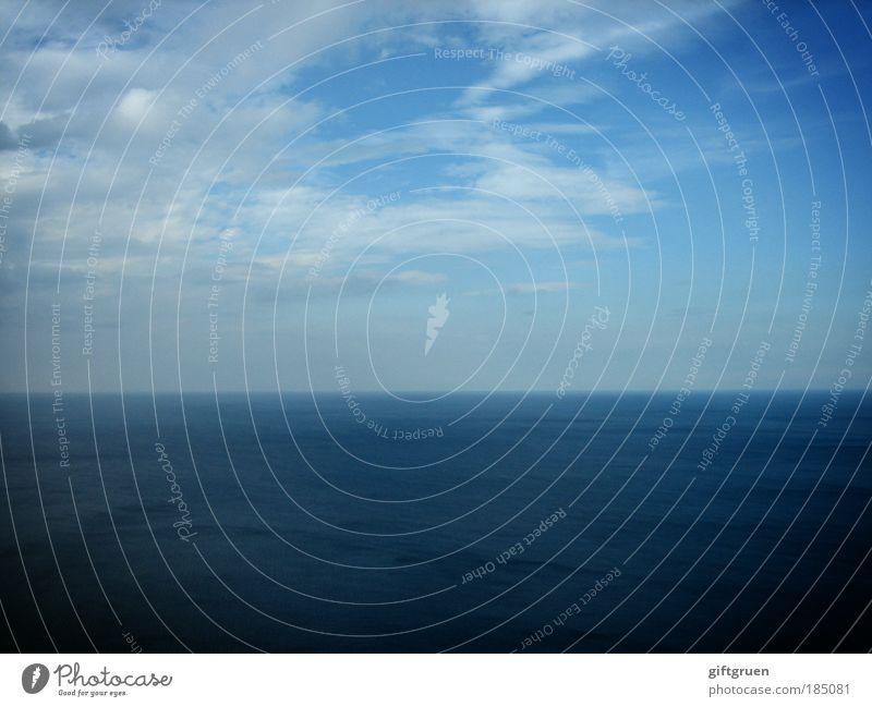 endlessly blue Natur Wasser Himmel Meer blau Ferien & Urlaub & Reisen Wolken Ferne Freiheit Landschaft Zufriedenheit Erde Kraft Umwelt Horizont ästhetisch