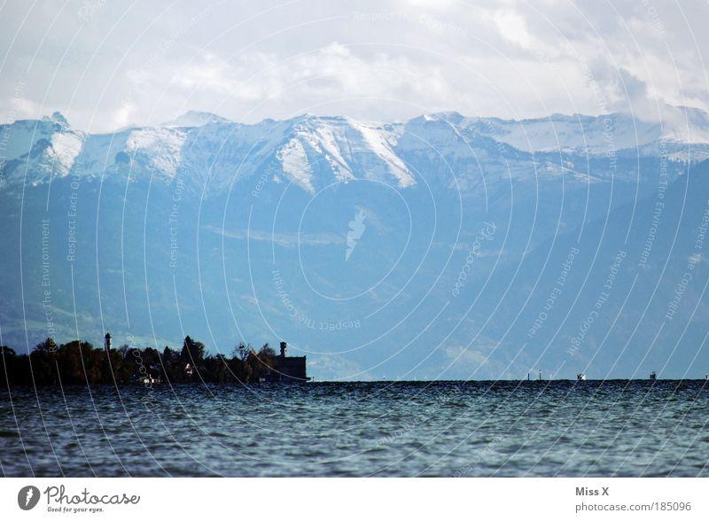 Bodensee schön Winter Ferien & Urlaub & Reisen Ferne Herbst Berge u. Gebirge See Küste groß Tourismus Aussicht Alpen Unendlichkeit Seeufer Schönes Wetter