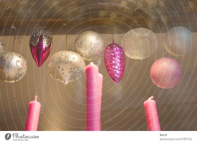 WEIHNACHTSRAUSCH elegant Stil Winter Häusliches Leben Innenarchitektur Dekoration & Verzierung Feste & Feiern braun rosa Lebensfreude Leichtigkeit Symmetrie