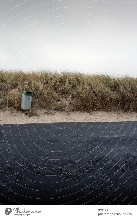 Sommer Sonne Strand und Teer Natur Himmel Meer Ferien & Urlaub & Reisen schwarz Wolken Straße kalt Herbst Gras grau Wege & Pfade Sand Landschaft Küste