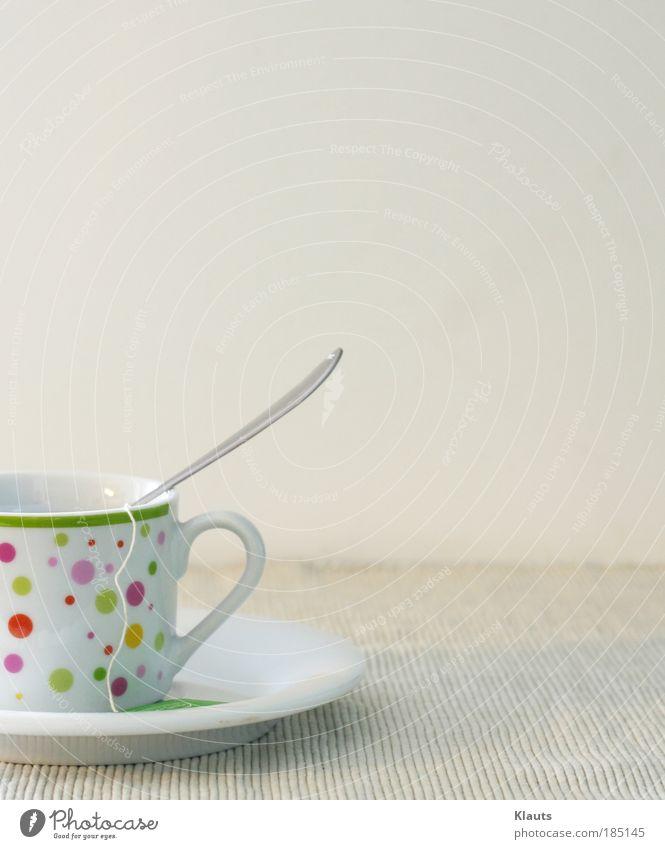 Kleiner Becher Getränk Heißgetränk Kaffee Tee Tasse Löffel Dekoration & Verzierung Teetasse ästhetisch elegant hell Sauberkeit weiß Kreativität Stimmung klein