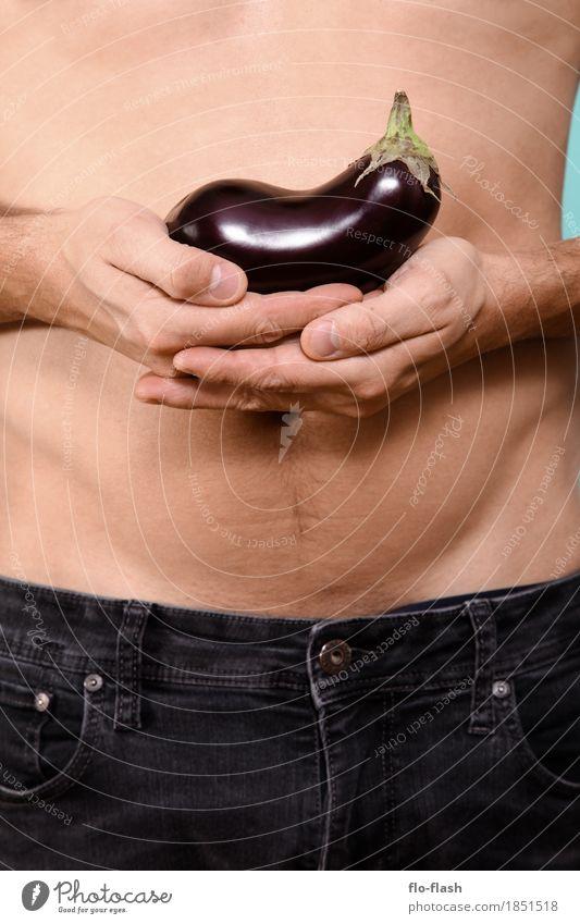 Auberginchen IV Mensch Jugendliche Mann nackt schön Junger Mann Erotik 18-30 Jahre Erwachsene Leben natürlich Lifestyle Gesundheit Stil Glück Lebensmittel