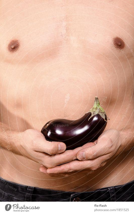 AUBERGINCHEN II Lebensmittel Gemüse Aubergine kaufen Stil Körper Gesundheit Wellness Trainer Mensch maskulin Junger Mann Jugendliche Erwachsene 1 18-30 Jahre