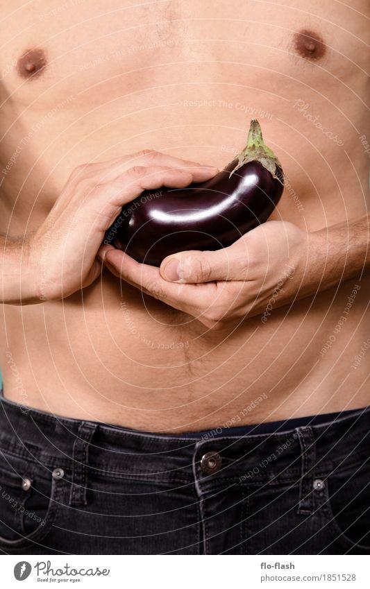 AUBERGINCHEN VII Mensch Natur Jugendliche Mann schön Junger Mann Erotik Erwachsene Leben Frühling Lifestyle Gesundheit Stil Lebensmittel maskulin Ernährung