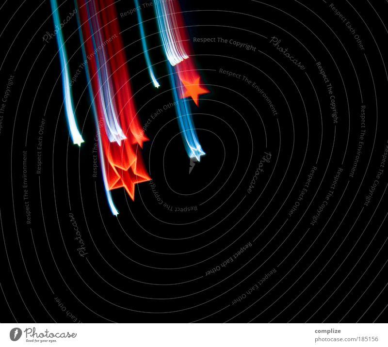 Sterntaler Weihnachten & Advent blau rot schwarz Licht Feste & Feiern Informationstechnologie Bewegungsunschärfe Design Stern (Symbol) Technik & Technologie