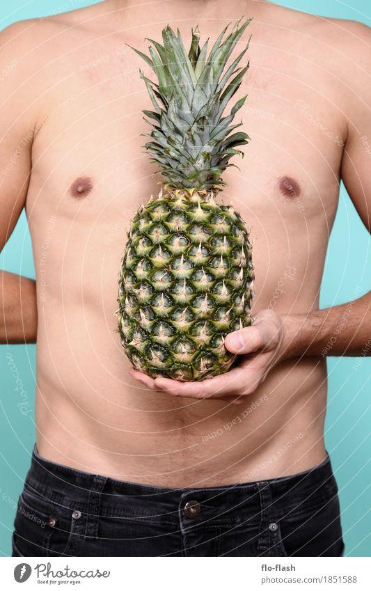 Ananas machen V Lebensmittel Frucht Ernährung Bioprodukte Vegetarische Ernährung Diät Fastfood Lifestyle Design exotisch Gesundheit sportlich Wellness Trainer