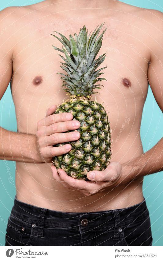 Ananas machen VIII Mensch Jugendliche Mann Junger Mann Erotik 18-30 Jahre Erwachsene Leben Gesundheit Business Lebensmittel Design Frucht maskulin Ernährung süß