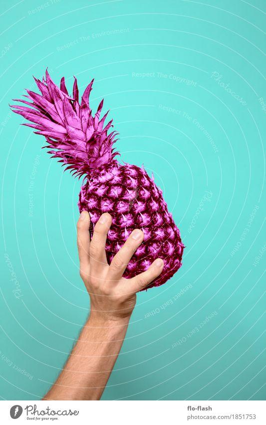Ananas machen IV Mensch blau Erotik Leben Lifestyle Stil Kunst Lebensmittel Design rosa Frucht maskulin Erfolg kaufen Unendlichkeit Wellness