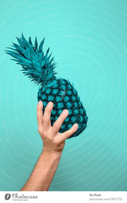 Ananas machen I Jugendliche Mann Junger Mann Erotik Erwachsene Leben Lifestyle Gesundheit Stil Business Lebensmittel Design Frucht Ernährung Kraft Erfolg