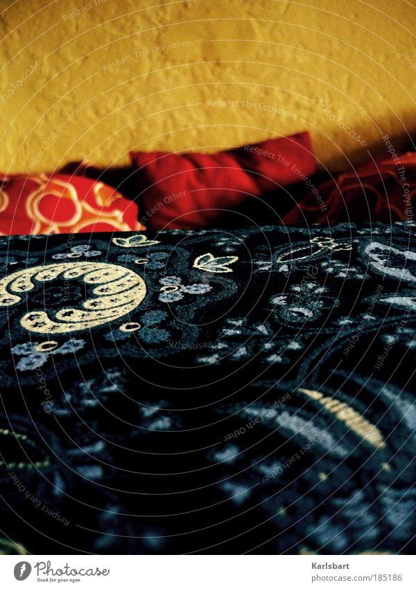 schlaf. schön. ruhig Erholung Wärme Innenarchitektur Raum Wohnung Zufriedenheit Design verrückt Häusliches Leben Dekoration & Verzierung Lifestyle Bett Stoff