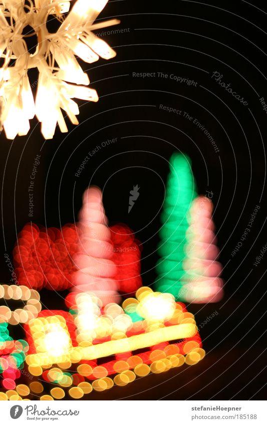Christmas Bokeh Winter Dekoration & Verzierung Ornament Feste & Feiern leuchten Gefühle Stimmung Fröhlichkeit Vorfreude Lights Night Weichnachtslichter