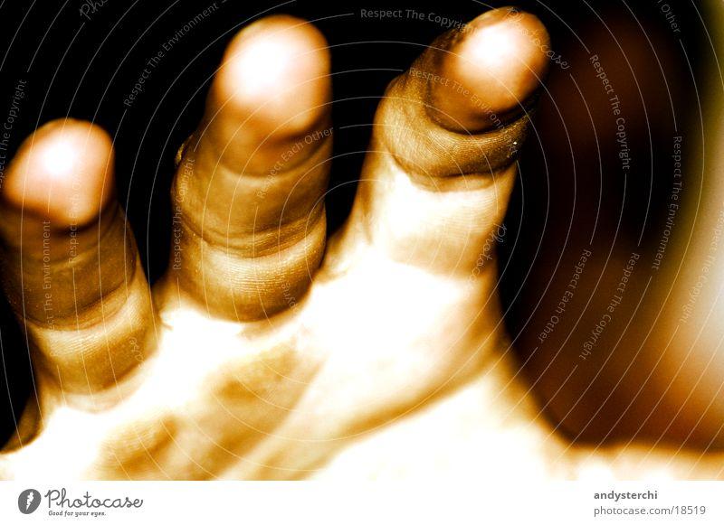 Kralle Mensch Hand Haut Finger Falte fangen Sepia Abdruck Fingerabdruck Jahresringe