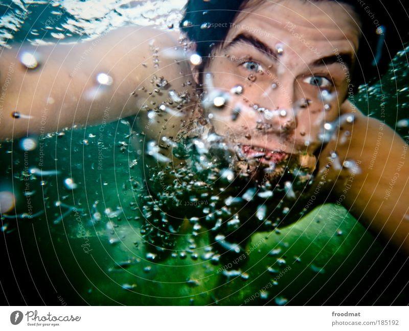 stratosphärenlieder Mensch Mann Jugendliche Wasser Sommer Meer Freude Strand Erwachsene Erholung kalt Freizeit & Hobby Schwimmen & Baden maskulin Suche Wellness