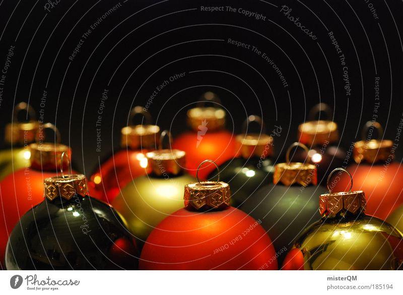 waiting. Kunst Kultur ästhetisch Design Zusammenhalt Weihnachten & Advent Adventskalender Winter Dezember Gold Dekoration & Verzierung Baumschmuck Kugel