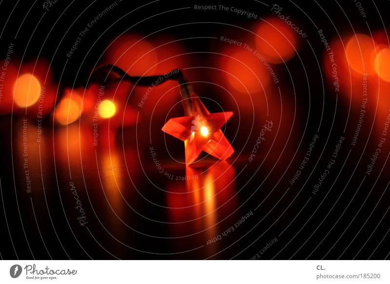xmas Weihnachten & Advent schön rot schwarz Stimmung Feste & Feiern Wohnung ästhetisch Innenarchitektur Stern (Symbol) Häusliches Leben Dekoration & Verzierung leuchten Kitsch Veranstaltung kuschlig