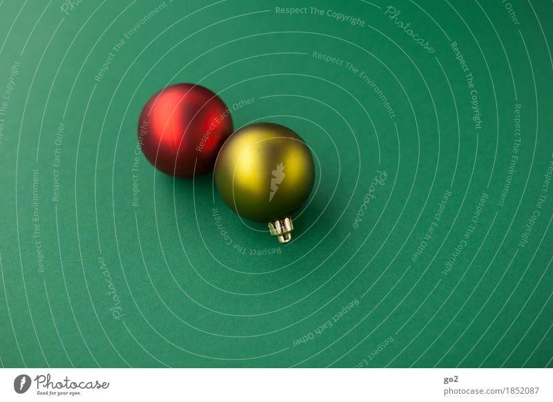 Weihnachtskugeln Dekoration & Verzierung Weihnachten & Advent Christbaumkugel ästhetisch rund gelb grün rot Weihnachtsbaum Weihnachtsdekoration
