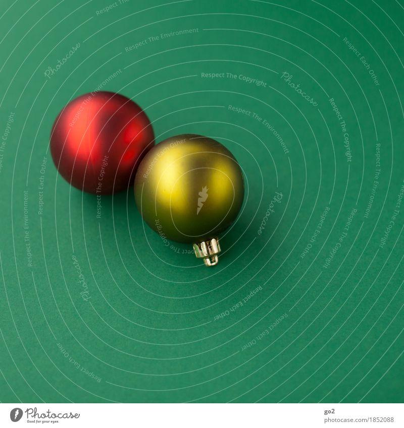 Weihnachtskugeln Weihnachten & Advent Dekoration & Verzierung Christbaumkugel ästhetisch rund gelb grün rot Vorfreude Weihnachtsbaum Weihnachtsdekoration