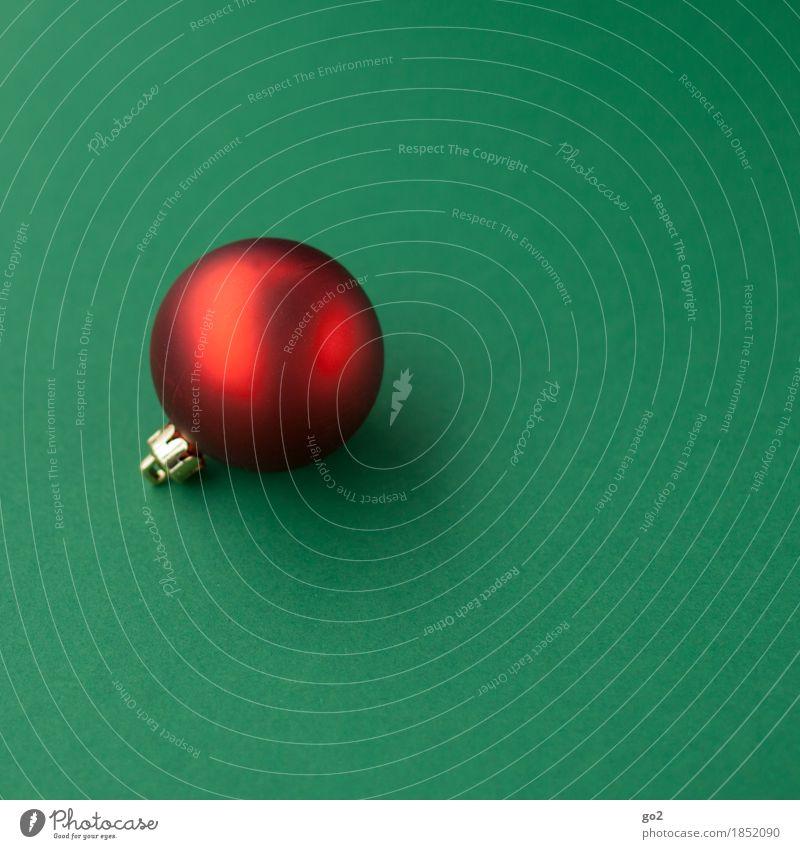 Weihnachtskugel Dekoration & Verzierung Weihnachten & Advent ästhetisch rund grün rot Vorfreude Weihnachtsbaum Weihnachtsdekoration Christbaumkugel