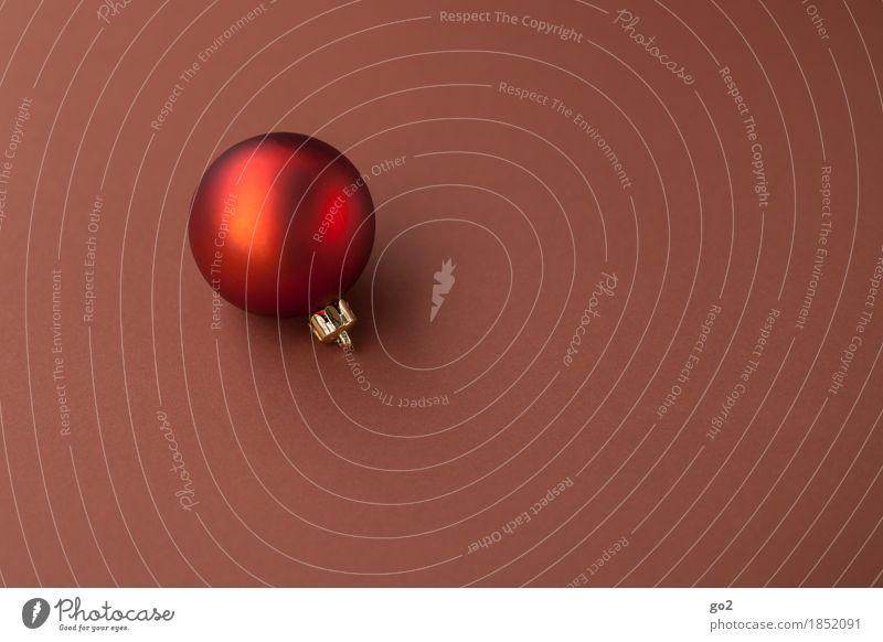 Weihnachtskugel Dekoration & Verzierung Weihnachten & Advent Christbaumkugel ästhetisch rund braun rot Vorfreude Weihnachtsdekoration Weihnachtsbaum