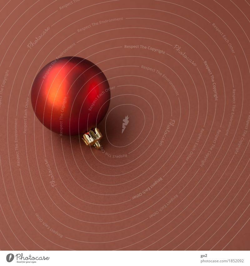 Weihnachtskugel Dekoration & Verzierung Weihnachten & Advent Christbaumkugel ästhetisch rund braun rot Vorfreude Weihnachtsgeschenk Weihnachtsdekoration