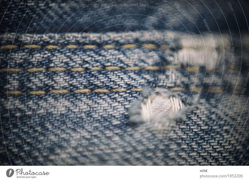 Jeans 3 Mode Bekleidung Jeanshose Stoff trendy blau Naht Textilien Abnutzung Second-Hand Laden gebraucht Farbfoto Innenaufnahme Studioaufnahme Nahaufnahme