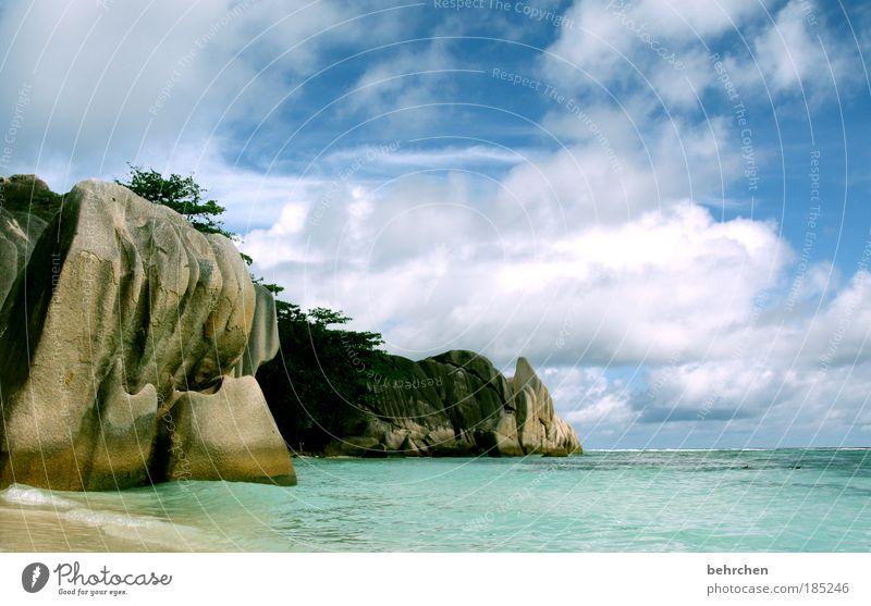 tauschgeschäft Himmel schön Strand Ferien & Urlaub & Reisen Meer Wolken Ferne Freiheit Glück Wellen Zufriedenheit Felsen Insel Tourismus Afrika türkis